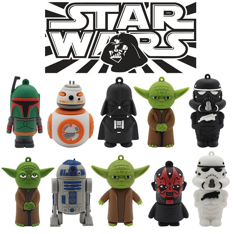 TEXT ME USB Stick 10 Model Usb2.0 Star Wars USB Flash Drive Pen Drive 4GB 8GB 16GB 32GB Usb Stick Cool Gift