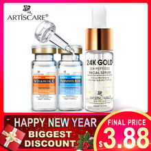 Sérum artieffrayant 24K Gold Six Peptides + sérum vitamine C + sérum à l'acide hyaluronique sérum Anti-âge hydratant éclaircissant(China)
