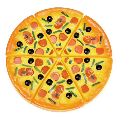 Hot Sale 6PCS Childrens Kids Pizza Slices Pizza Slices Food Toys Toppings Pretend Dinner Kitchen Play Food Toys Kids Gift