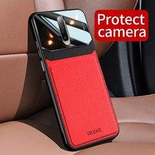 KEYSION odporna na wstrząsy obudowa do xiaomi Redmi K30 K20 Pro uwaga 8 Pro 8T skórzana szklana silikonowa tylna obudowa telefonu do Redmi K30 uwaga 8A