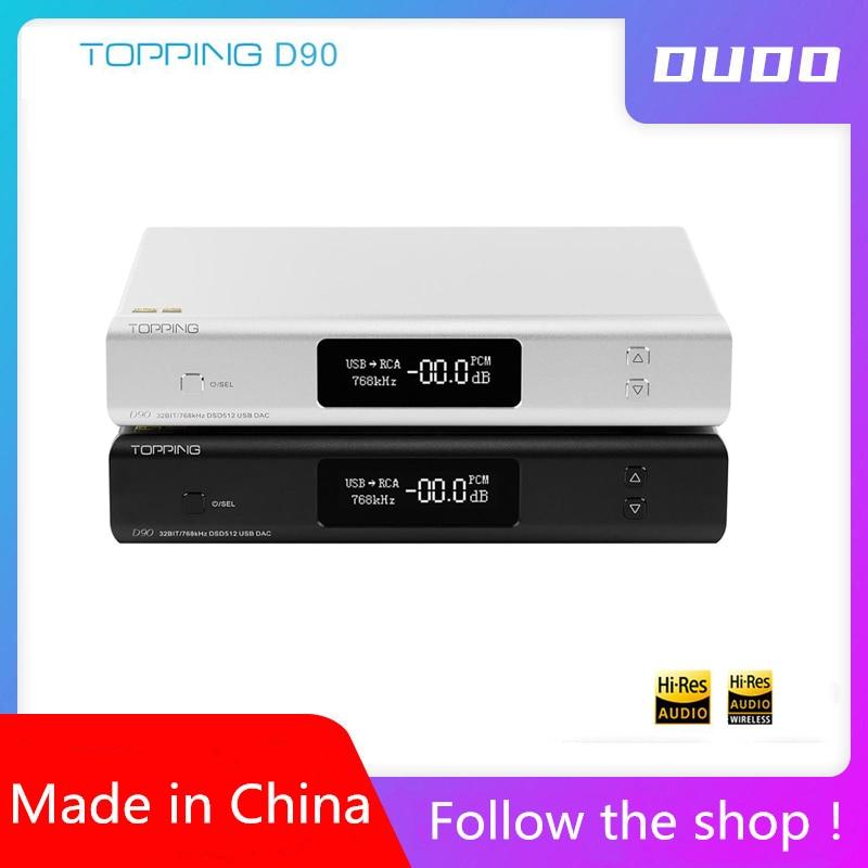 TOPPING D90 D90 MQA AK4499 AK4118 Full Balanced DAC Bluetooth 5 0 DSD512 Hi-Res Decoder Ultimate Edition