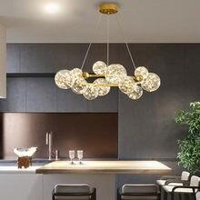 Nordic Design LED Hanging Lights Modern Creative Chandelier Glass Ball For Restaurant Living Room Pendant Lamp