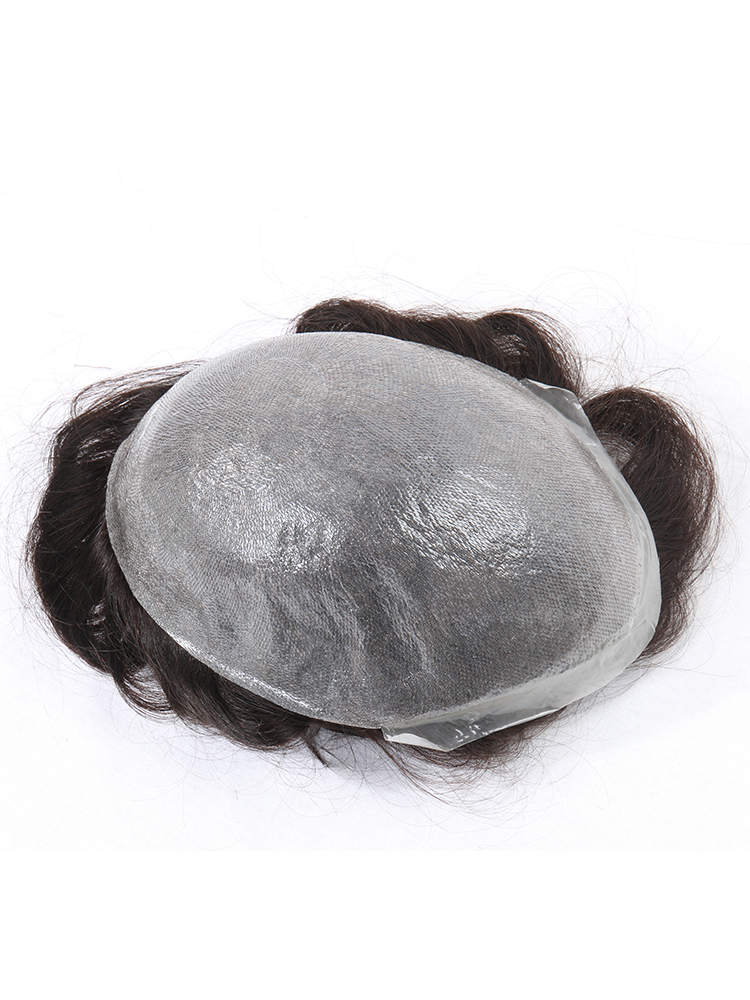 Hair-System Skin Toupee Human-Hair Male Men's Wig-Prosthesis Natural Super-Thin Indian