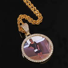 Fashion Hip-hop Personalized Creative Custom Photo Pendant Copper Inlaid Zircon Solid Wild DIY Creative Photo Necklace Unisex 925 sterling silver custom pendant necklace diy photo engraving necklace custom personalized gifts drop shipping ylq0845