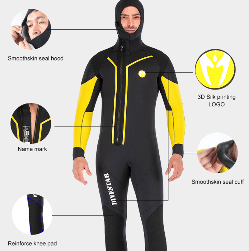 Image 2 - 7mm Neoprene Spearfishing Wetsuit Full Body Front Zip Keep Warm Diving Suit For Men Underwater Hunting Swimming Surfing WetsuitsWetsuit   -
