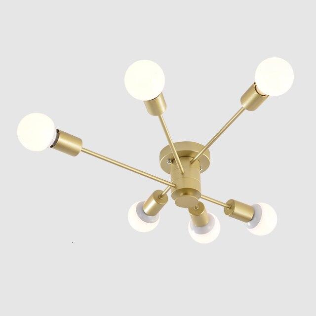 Потолочный подвесной светильник для спальни с 6 лампами Starburst, излучаемая Люстра для кухни, столовой, бара