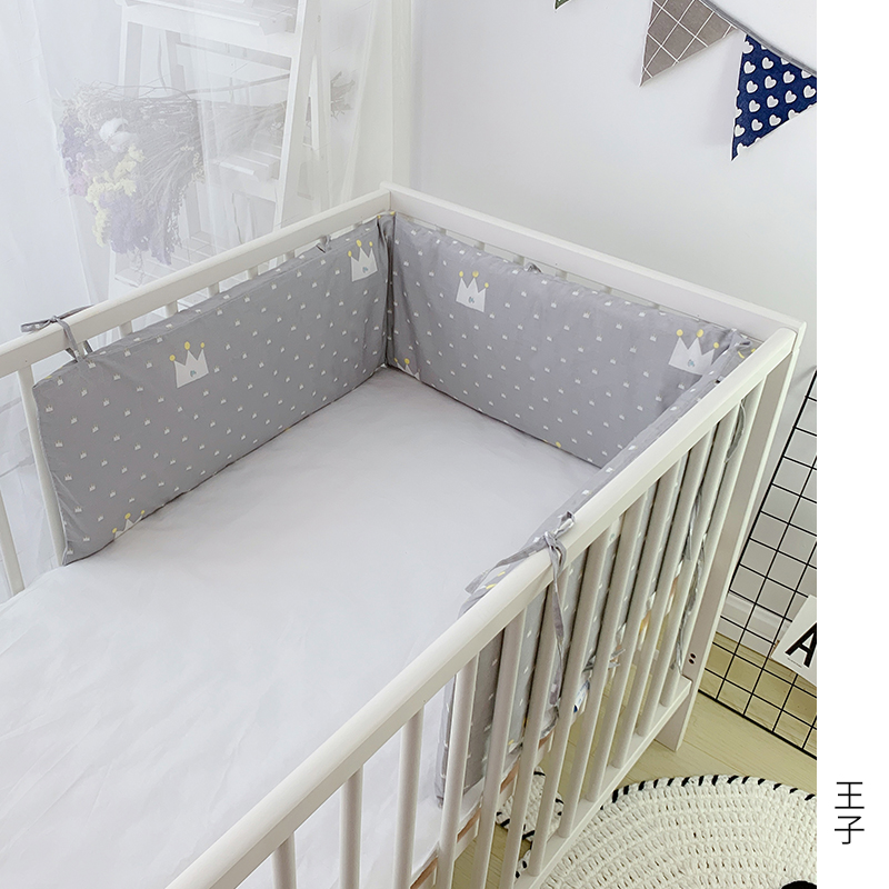 1pcs Baby Bed Protector Crib Bumper Newborns Bed Head Protect Cushion One Piece 180cm Length