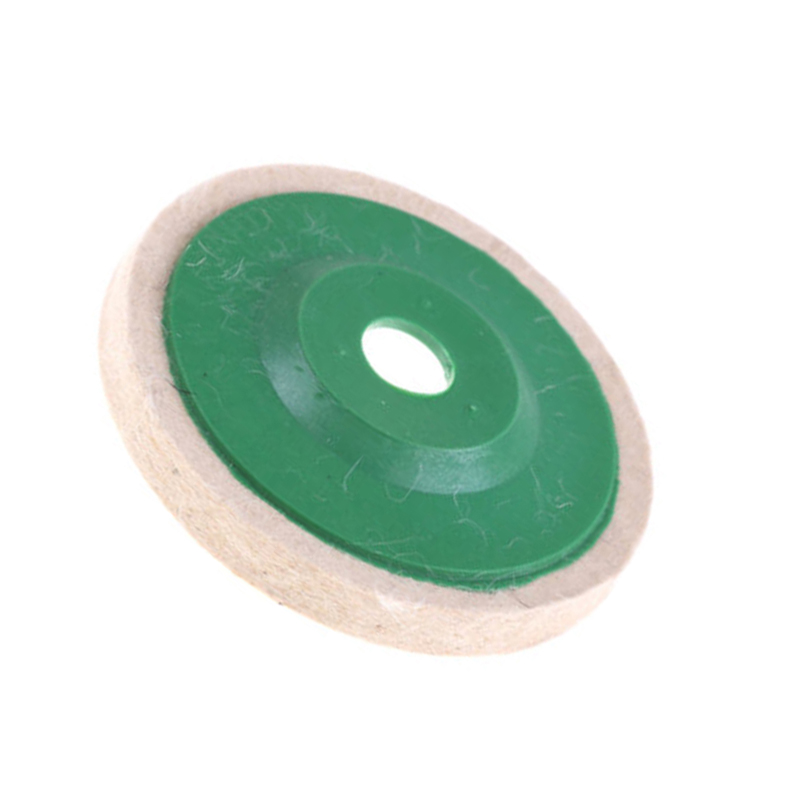 1pc 4inch Wool Felt Buffing Polishing Wheel Fits For 100 Angle Grinder Polisher