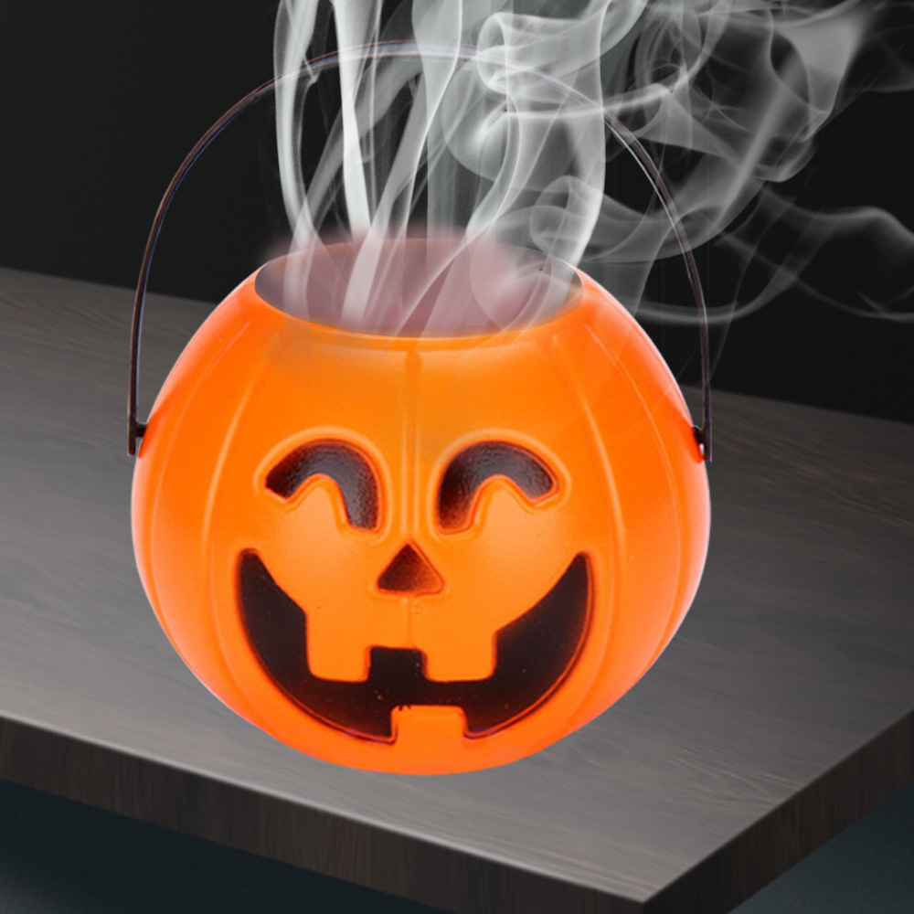 US $3 79 OFF 2020 New Halloween Pumpkin Lantern Lights Halloween Decoration Lights With Mist Smoke Machine Maker Fogger for Home Decorations Party
