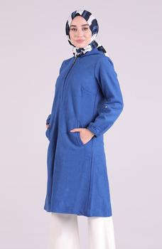 Minahill saksońska niebieska peleryna 0221-04 tanie i dobre opinie Blazer Dla dorosłych Octan