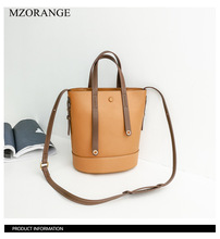 Genuine Leather Women Bucket Bag Designer Thread Ladies Vintage Casual Tote Shoulder Bag Luxury Messenger Crossbody Bags Handbag недорго, оригинальная цена