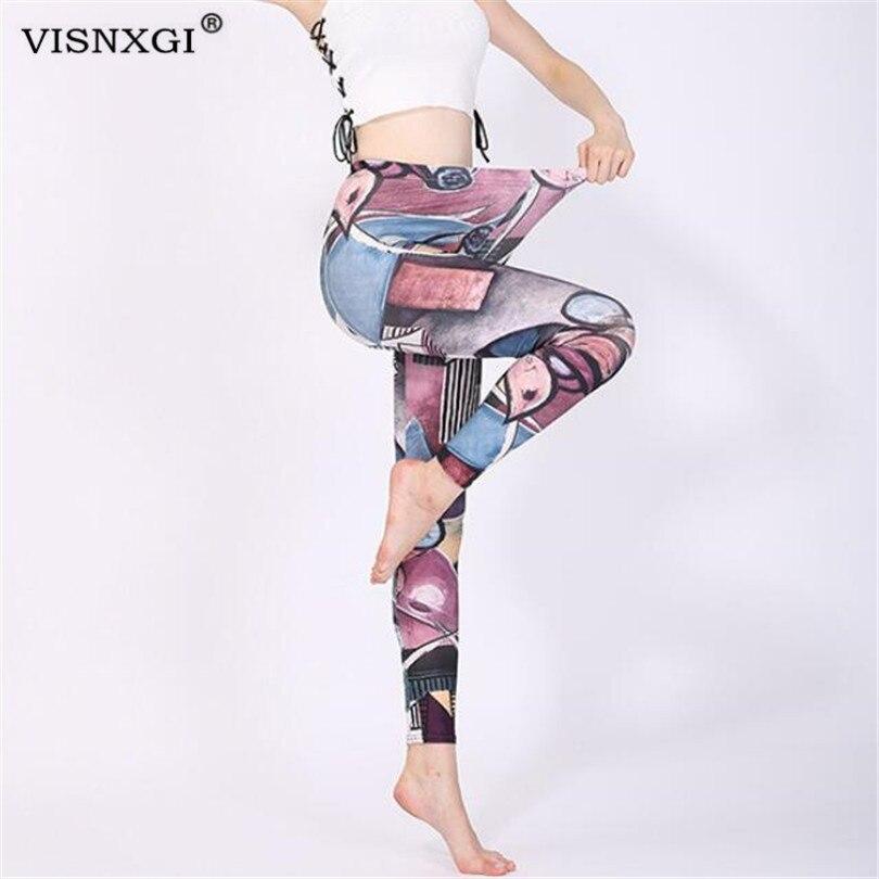 VISNXGI Sportswear Leggings Women Fitness Leggings For Women Femme High Waist Exercise Workout Pants Pencil Stretchy Trousers