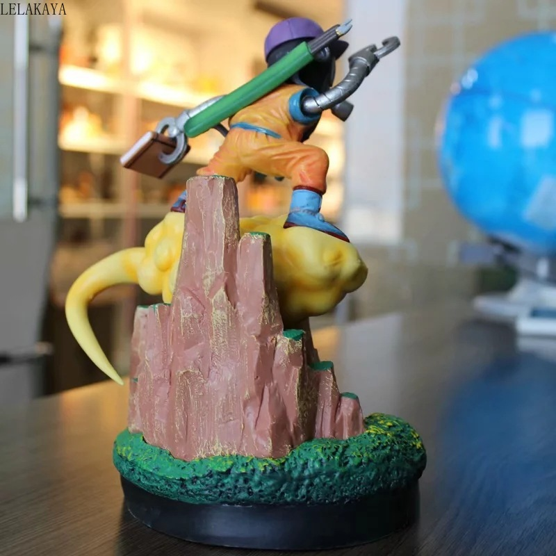 Аниме 23 см Dragon Ball Z Акира Торияма Сон Гоку с «сальто на облаке» GK статуя ПВХ фигурка Коллекция Модель игрушки подарок