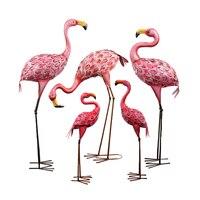 Sen família prop arte de ferro flamingo ornamento pátio villa terraço jardinagem ornamento exibição do mercado janela ornamento