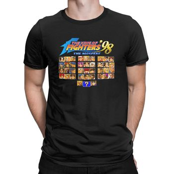 Men's The King Of Fighters T Shirt Arcade Game Pure Cotton Clothes Humor Short Sleeve Round Collar Tee Summer T-Shirt - discount item  40% OFF Tops & Tees
