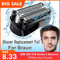 Tête de rasoir de rechange pour Braun 32B 32S 21B pour Cruzer6 Series 3 301S 310S 320S 360S 3000S 3010S 3020S S S 350CC tête lame