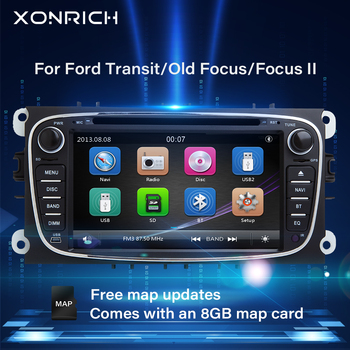 Xonrich AutoRadio 2 Din Car DVD Player For Ford Focus 2 S-Max C-Max Mondeo 4 Transit ConnetGalaxy Kuga Multimeida GPS Navigation image