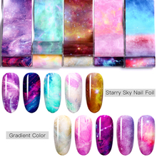 1 Box Nail Foil Sticker Set Holographic Starry Sky Adhesive