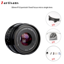 7artisans 50mm f1.8 büyük diyafram portre manuel odak mikro kamera Lens için Canon eos m montaj e montaj Fuji FX miktarı