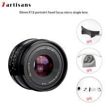 7artisans – objectif de caméra pour Canon eos m, objectif de caméra à grande ouverture 50mm f1.8, mise au point manuelle, monture e mount Fuji FX quantity