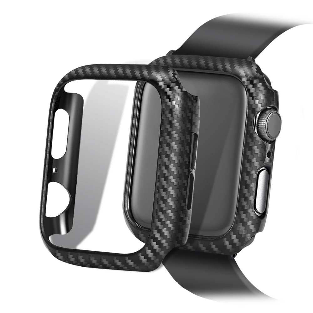 Screen Protective <font><b>case</b></font> For <font><b>Apple</b></font> <font><b>Watch</b></font> 4 5 <font><b>3</b></font> iwatch 44/42mm 40/<font><b>38mm</b></font> Frame Carbon Protective <font><b>Case</b></font> covers Bumper <font><b>watch</b></font> Accessories image
