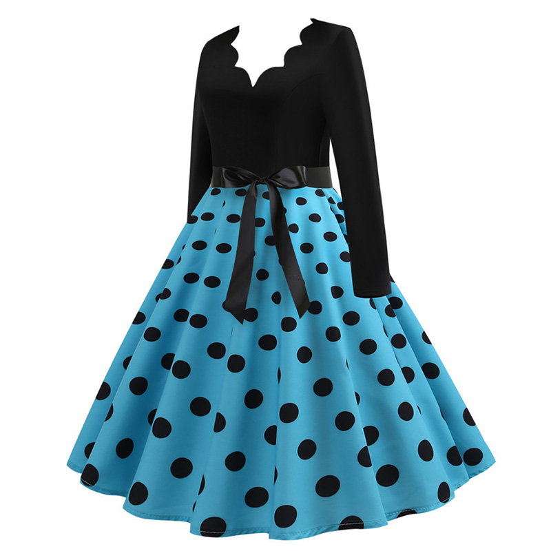 Women Long Sleeve Winter Vintage Dresses Sexy Black Music Note Print V-neck Rockabilly Pin up Party Dress Vestidos Plus size 546