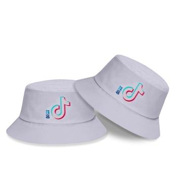 Fashion Trend Tik-Tok Outdoor Outing Beach Sunscreen Children's Hat Men and Women Korean Fisherman Hat Sun Hat Bucket Cap Gifts fashion wifi signal pattern bucket hat for men