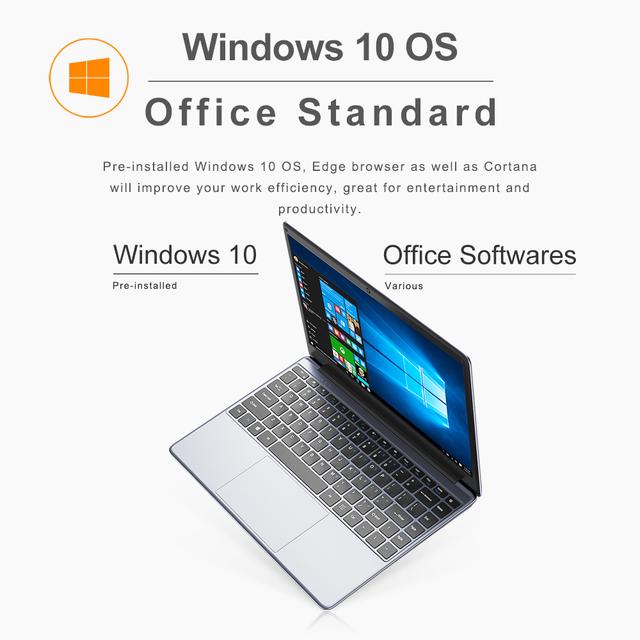 CHUWI HeroBook Pro 14.1 inch Full laminated IPS Screen Computer Intel N4000 Dual Core 8GB 256GB Windows 10 NoteBook