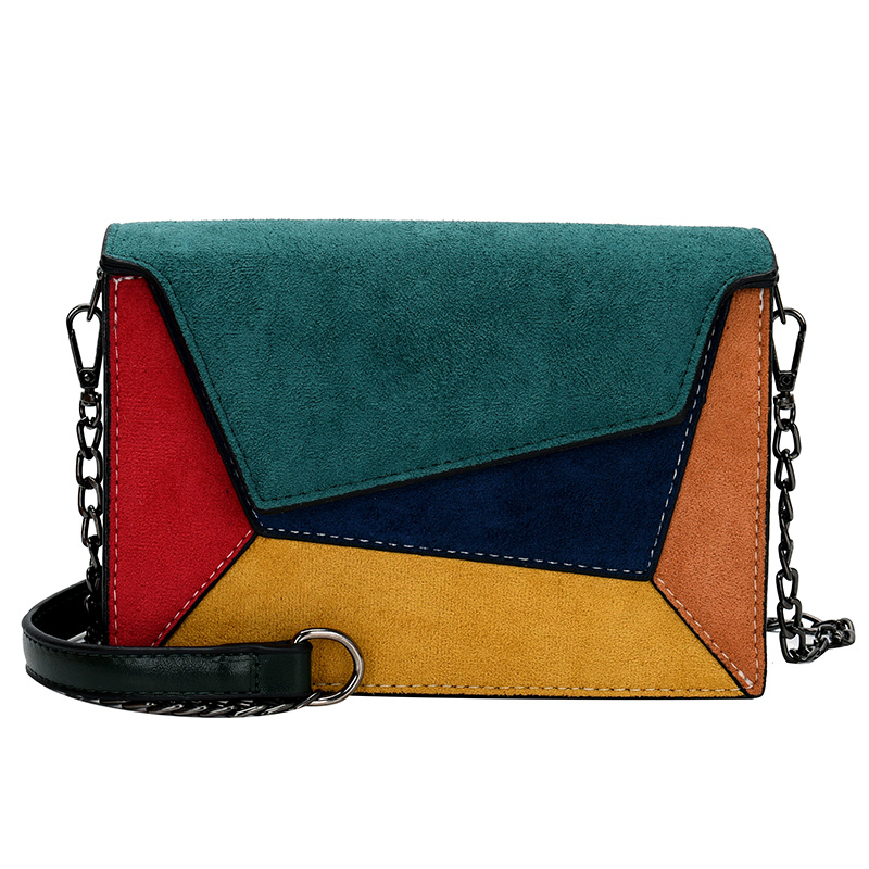 Women Diagonal Cross Bag Geometric Fashion Youth Female Color Small Shoulder Bag New Trend Chain Small Square Bag Exquisite