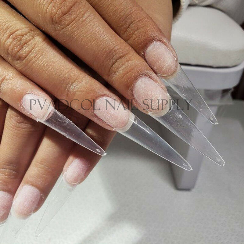 Extra Long Easy Coffin Stiletto False Nail Tips Acrylic Gel Half Cover Tip Nails Manicure Tool