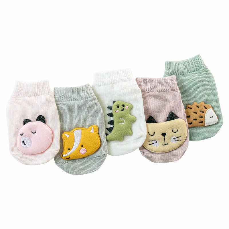 0-3 년 아기 소녀 양말 코튼 안티-슬립 바닥 양말 신생아 과일 동물 디자인 유아 소년 발목 양말