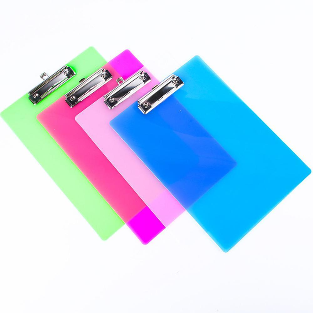 1pcsAdeeing A4 Clip File Board Document Folder For Student Storage Writing Office A4 Clip File D18