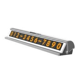 Samochód tymczasowa karta parkingowa kreatywny numer rejestracyjny telefonu magnetyczny numer telefonu ochrona prywatności akcesoria do wnętrza samochodu