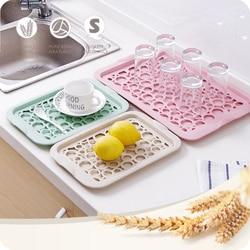 Kreatywny podwójny kubek na wodę z tworzywa sztucznego sitko tacka gospodarstwa domowego prostokątny talerz na owoce salon kubek taca na kubki taca WF3091501 w Tace od Dom i ogród na