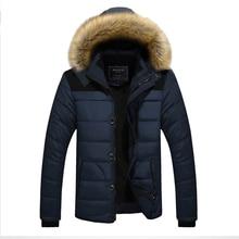Inverno tenere in caldo gli uomini casual giù giacche da uomo di spessore abito di cotone di colore solido di sesso maschile con cappuccio del cappotto del rivestimento più il formato di moda outwear