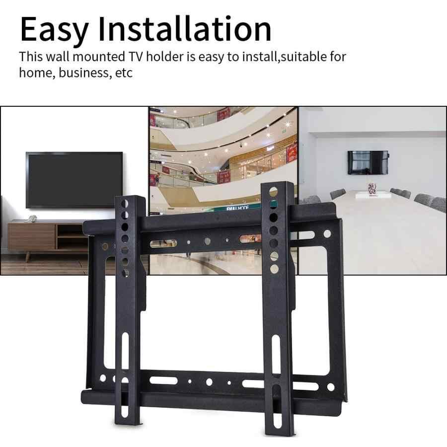 رف لتثبيت التليفزيون على الحائط لإمالة التليفزيون 14-40 بوصة LCD/LED تلفزيونات تصل إلى 55 تحميل سعة رطل رف لتثبيت التليفزيون على الحائط