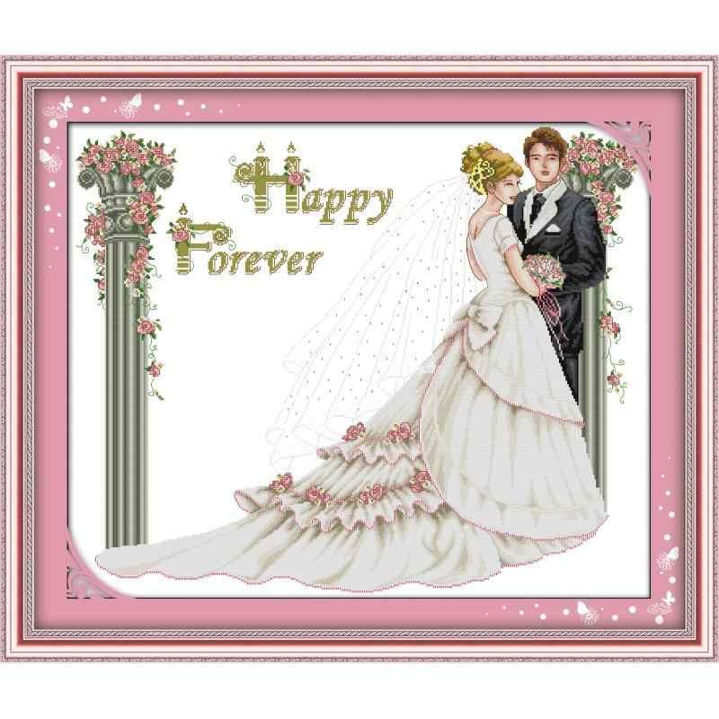 سلسلة الزفاف عد عبر الابره 11CT 14CT عبر الابره مجموعة لتقوم بها بنفسك عبر الابره عدة التطريز التطريز الزفاف الديكور