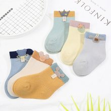 3 Pairs/Lot Girls Socks Boy Socks Cute Baby Cartoon Socks Newborn Cotton Socks Soft Infants Kids Socks Baby Clothes