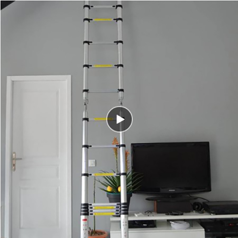 Aluminum Alloy Multifunctional Foldable Telescopic Ladder Safely Extend Retractable Straight Ladder Tool Space-saving Tools HWC