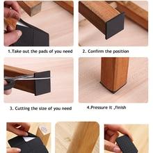 KAK 1-24PCS Self Adhesive Furniture Leg Feet Rug Felt Pads Anti Slip Mat Bumper Bumper