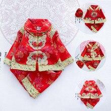 Традиционная китайская одежда с цветочным рисунком для младенцев; вечерние костюмы Танга для маленьких девочек и мальчиков; костюмы на Хэллоуин в азиатском стиле; костюм в стиле ретро