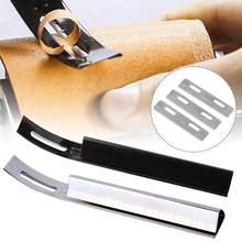 Beveler Artesanato Couro Skiver Desbaste De Segurança Em Aço inoxidável Lâminas de Lâmina Da Faca + 3 Costuras Ferramenta para Acessórios de Costura Artesanal DIY