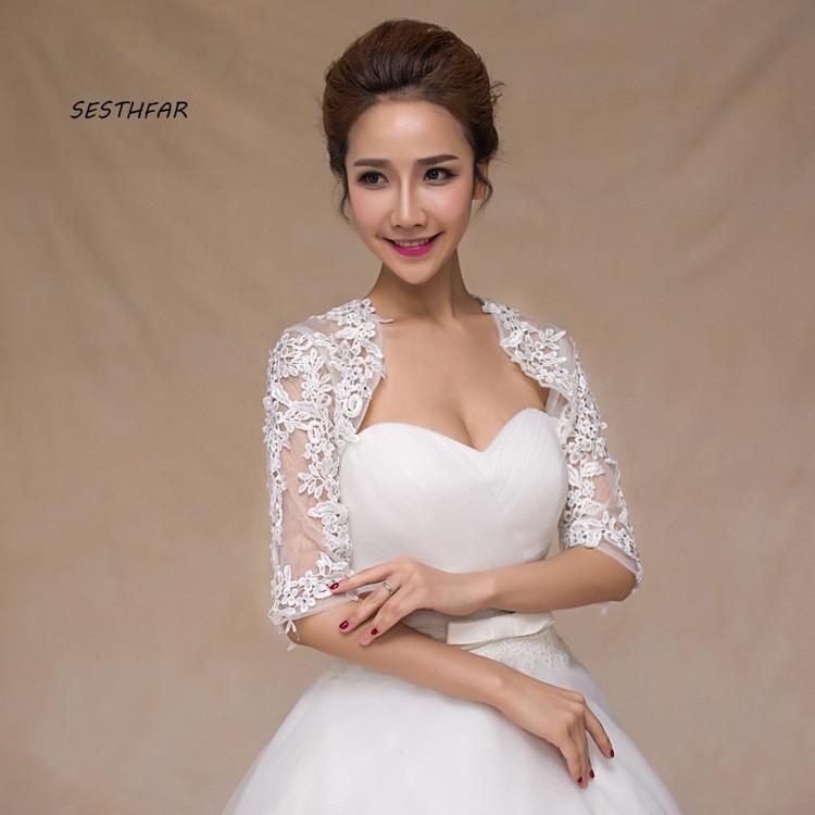 Wedding Jacket Bride Wedding Shawl Stereo Lace Vest Long Sleeve Wedding Dress Vest Wedding Accessories PJ088