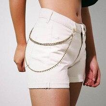 Панк Брюки для хип-хопа брелок металлический кошелек пояс-цепочка хипстер брелок брюки брелок для женщин девушка мода ювелирные изделия