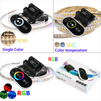 цена на DC12V-24V 18A 12A RF Remote Wireless Touch Pad Panel Single color/CT/RGB LED Controller control for 5050 3528 led strip Light