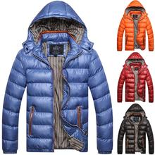 Plus Size Mens Windproof Puffer Hoodie Coat Winter Warmer Quilted Padded Jacket Tops