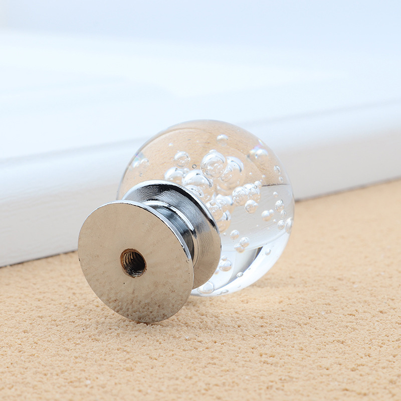 decorative drawer knobs.htm 10pcs 30mm cabinet knobs crystal round bubble glass handle  10pcs 30mm cabinet knobs crystal round