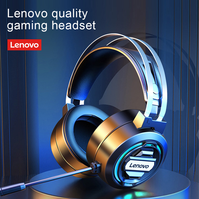 Lenovo Gaming Headphones Headset Gamer Stereo Over Ear Wired Headphones With Mic for PS4 Mobile Devices Game Players