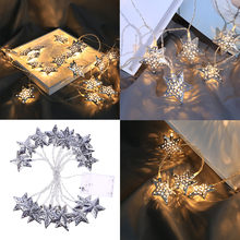 Christmas Star Lights Party Home Decor Outdoor Indoor Xmas Lamp 1.5m/3.0m decoration Christmas tree or Halloween Illuminations(China)