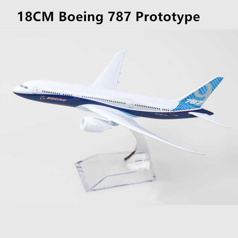 18CM Boeing 787 Prototype Model Metal Alloy Plane Aircraft Model Toy Airplane Kids Gift Collectible